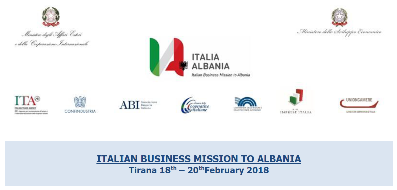 ITALIAN BUSINESS MISSION TO ALBANIA