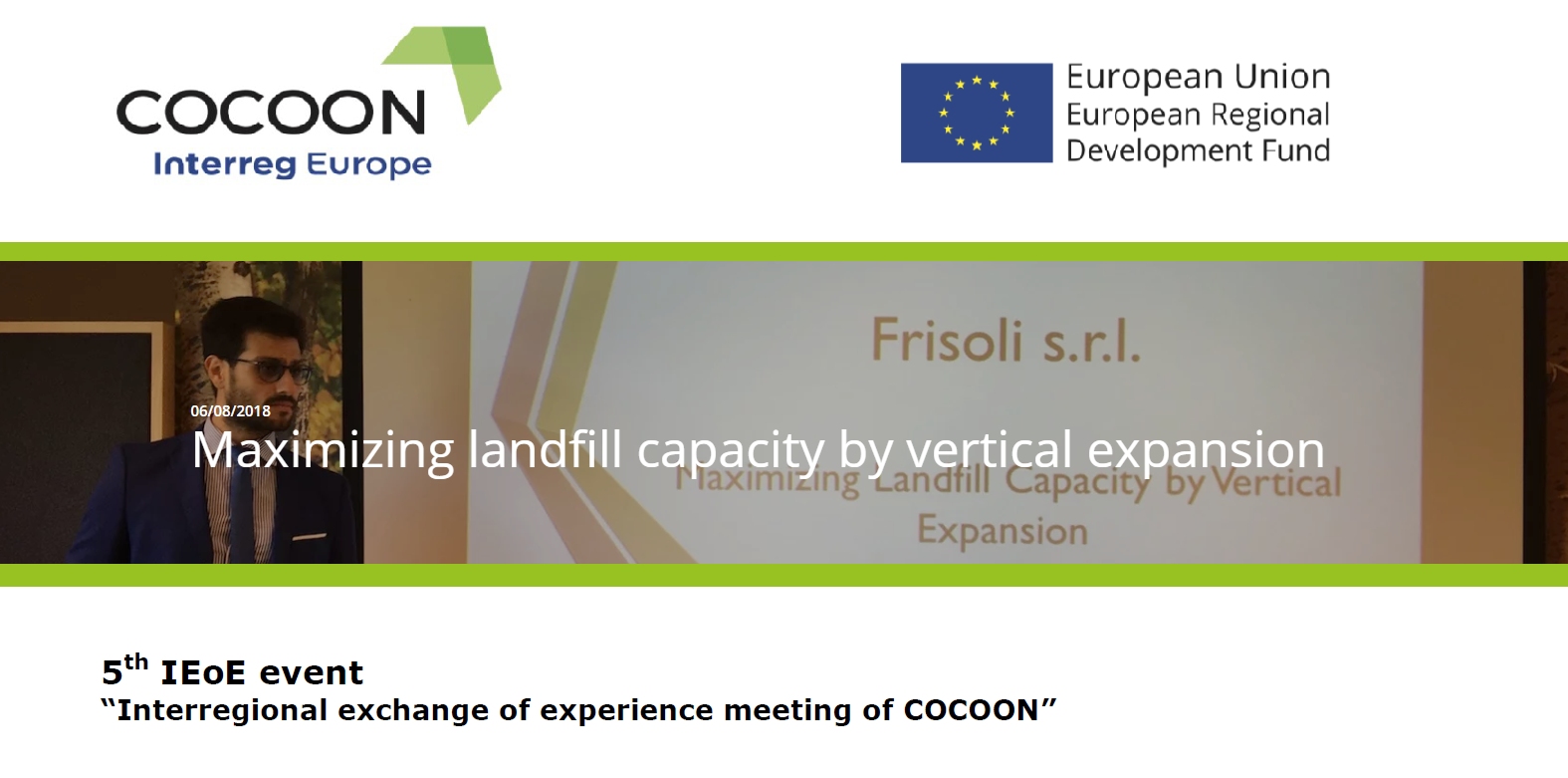 Interregional exchange of experience meeting